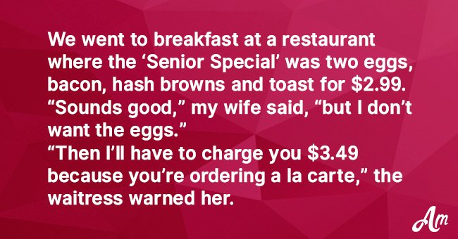 A Waitress Refused to Take an Older Woman's Order