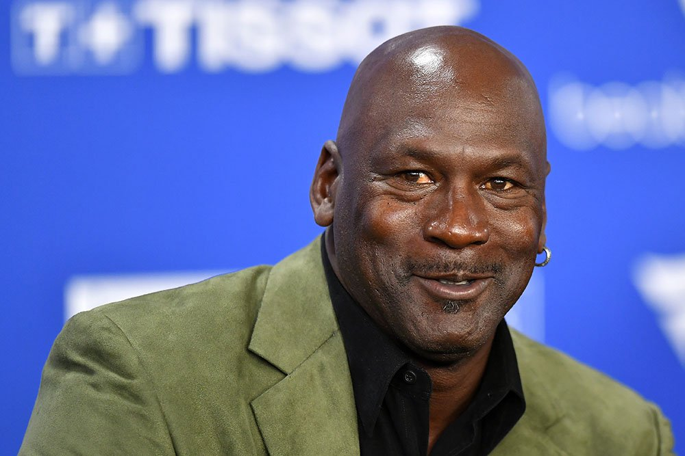 Michael Jordan attends a press conference before the NBA Paris match between Charlotte Hornets and Milwaukee Bucks in Paris, France in January 2020. I Image: Getty Images.