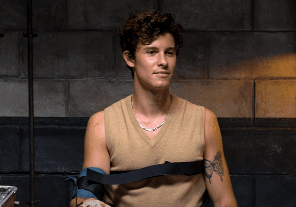 Shawn Mendes strapped in for a lie detector test. | Photo: Youtube/Vanity Fair