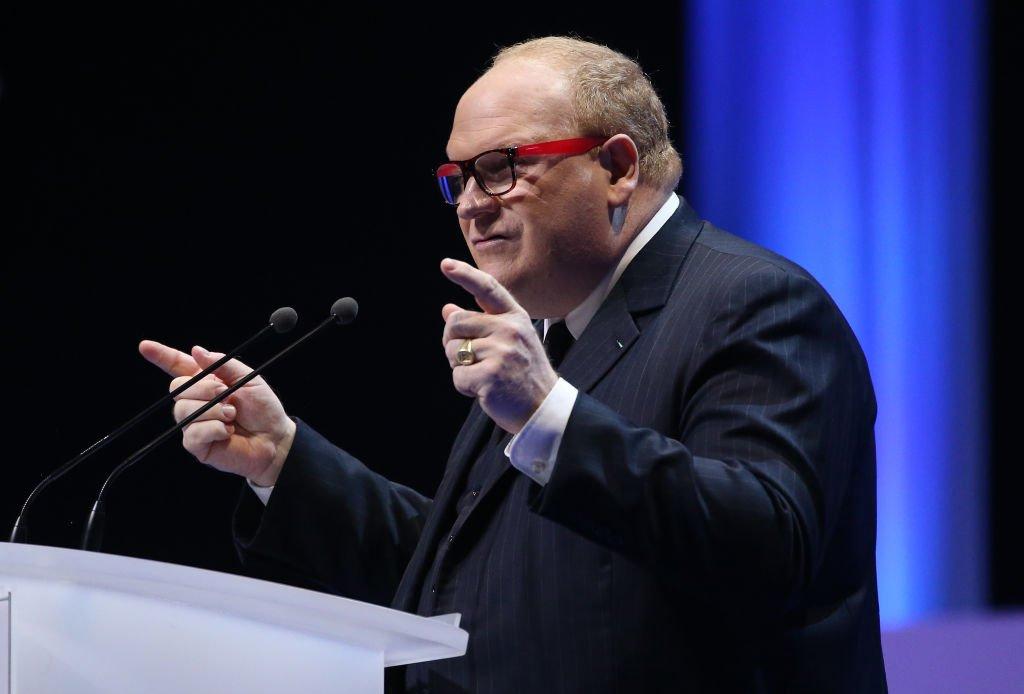 Franck de Lapersonne au cours d'un discours. l Source : Getty Images