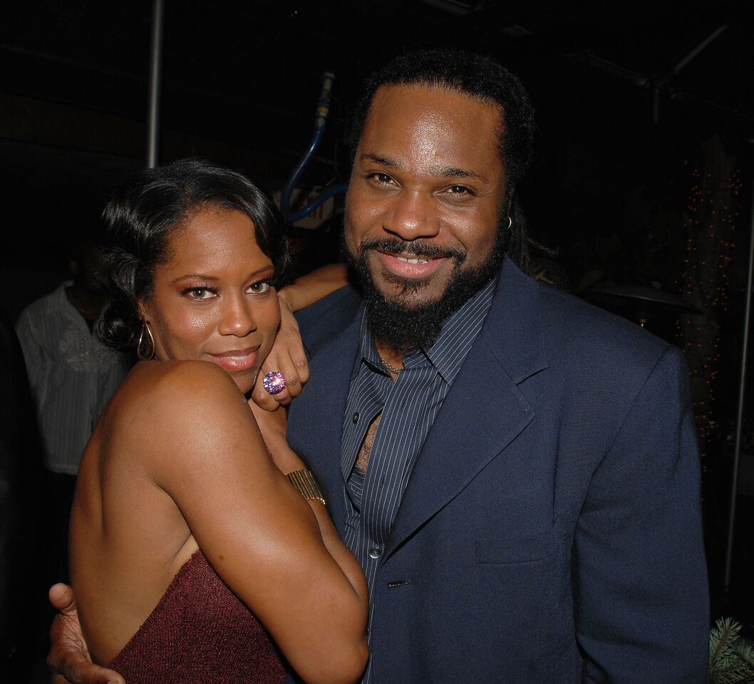 Regina King and Malcolm-Jamal Warner at the Emmys | Source: Getty Images