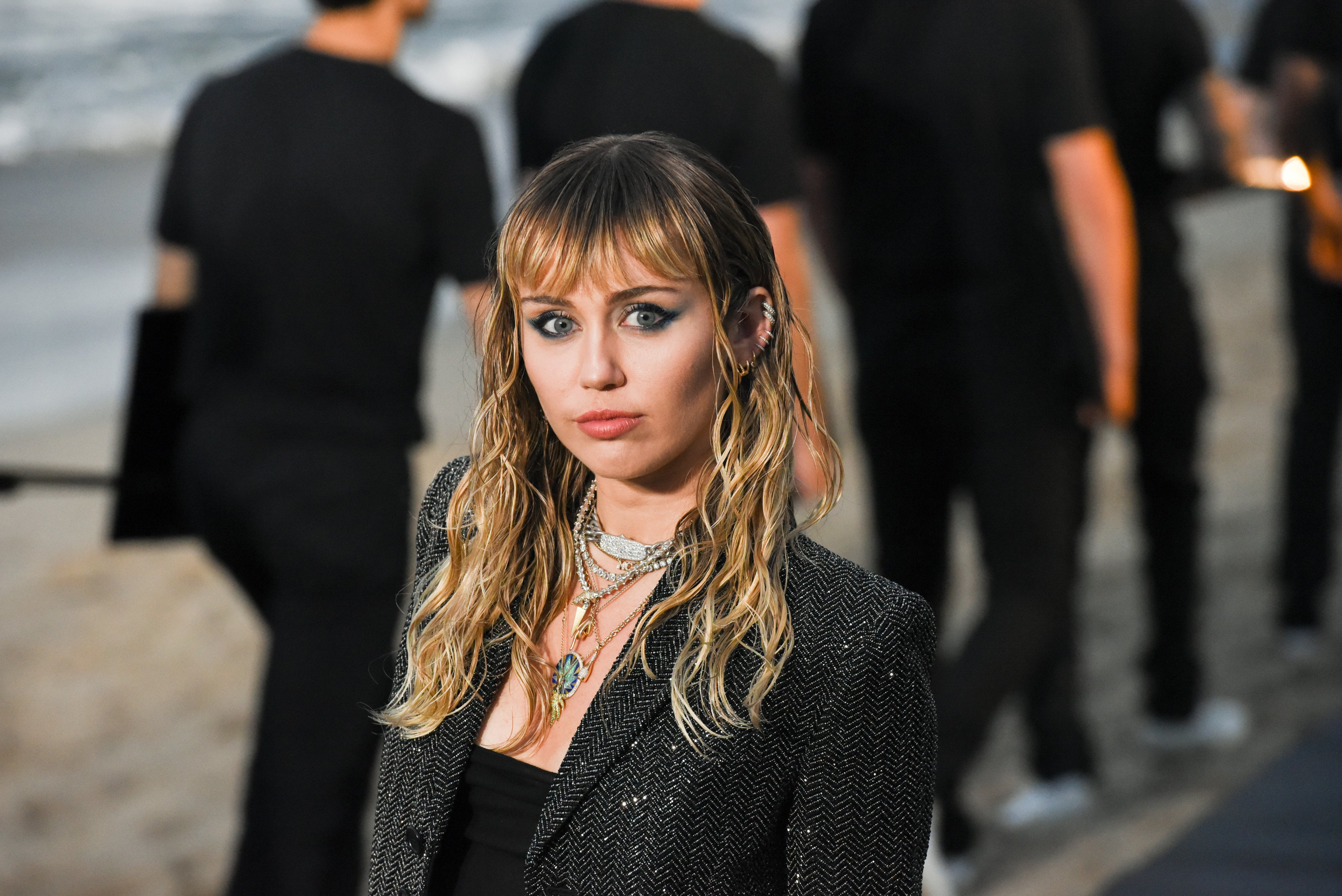 Miley Cyrus at Saint Laurent mens spring summer 20 show on June 06, 2019, in Malibu, California. | Source: Getty Images.