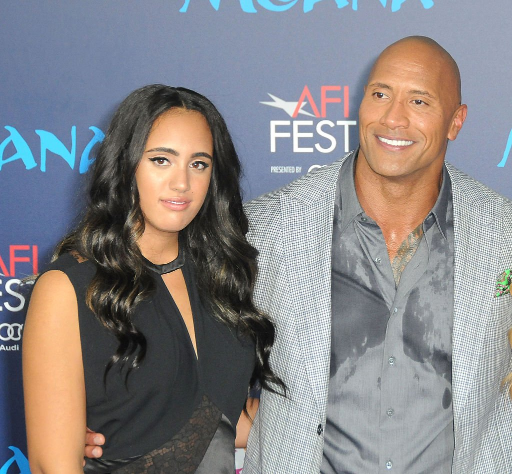Actor Dwayne Johnson and his daughter Simone Alexandra Johnson attend AFI FEST 2016 Presented By Audi - Premiere of Disney's 'Moana' at the El Capitan Theatre on November 14, 2016 | Photo: Getty Images