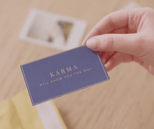 A card from Karma   Source: Facebook/ AmoMama