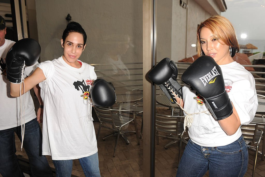 Nadya Suleman and Cassandra Andersen attend the Celebrity Boxing Match Press Conference | Getty Images