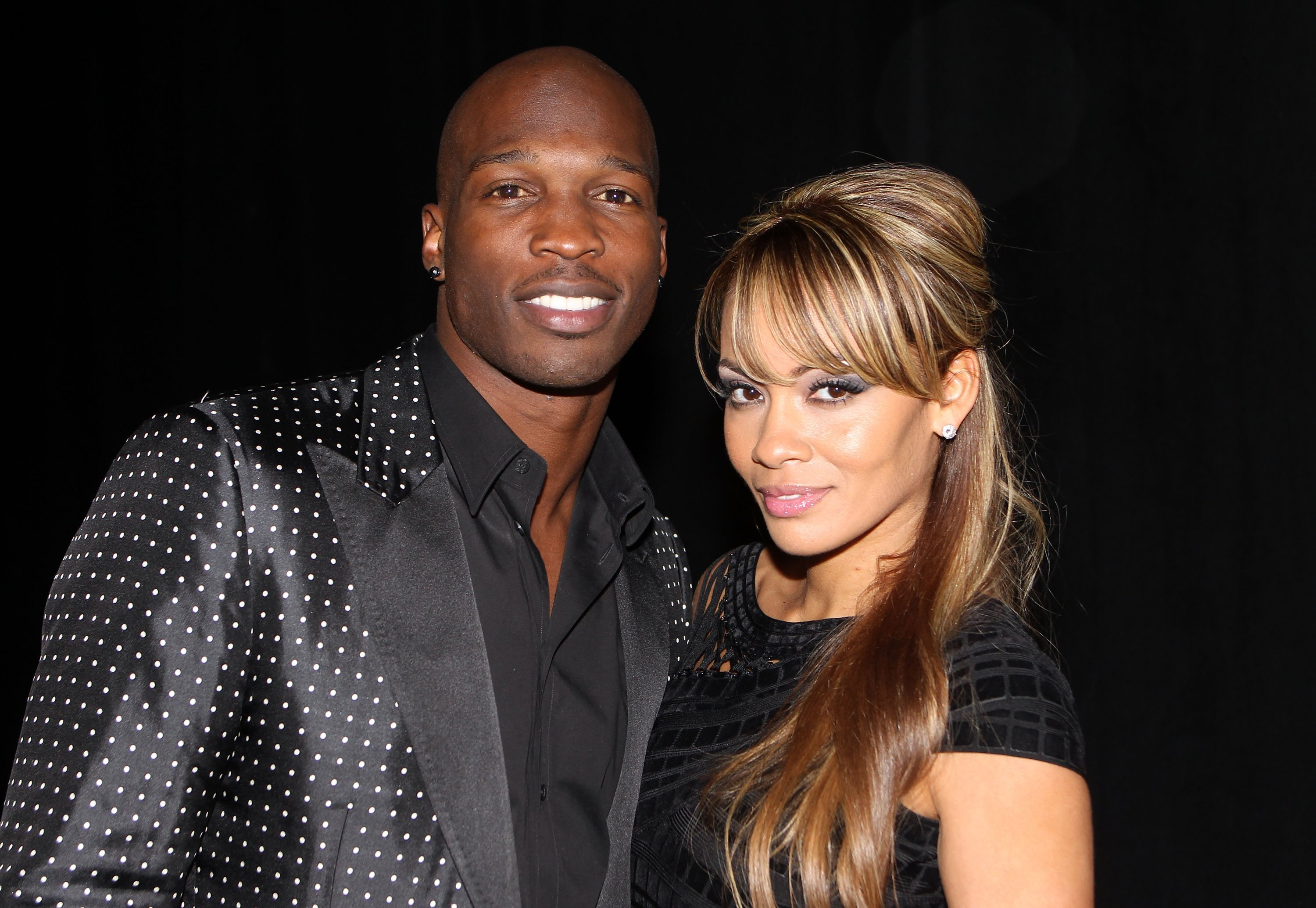 Chad Ochocinco and Evelyn Lozada at the Maxim Party at Centennial Hall at Fair Park on February 5, 2011 in Dallas, Texas | Photo: Getty Images