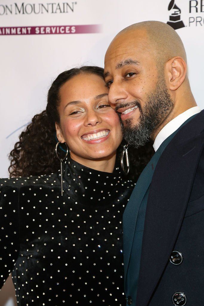 Alicia Keys & Swizz Beatz at a Grammys event in New York City on Jan. 25, 2018 | Photo: Getty Images