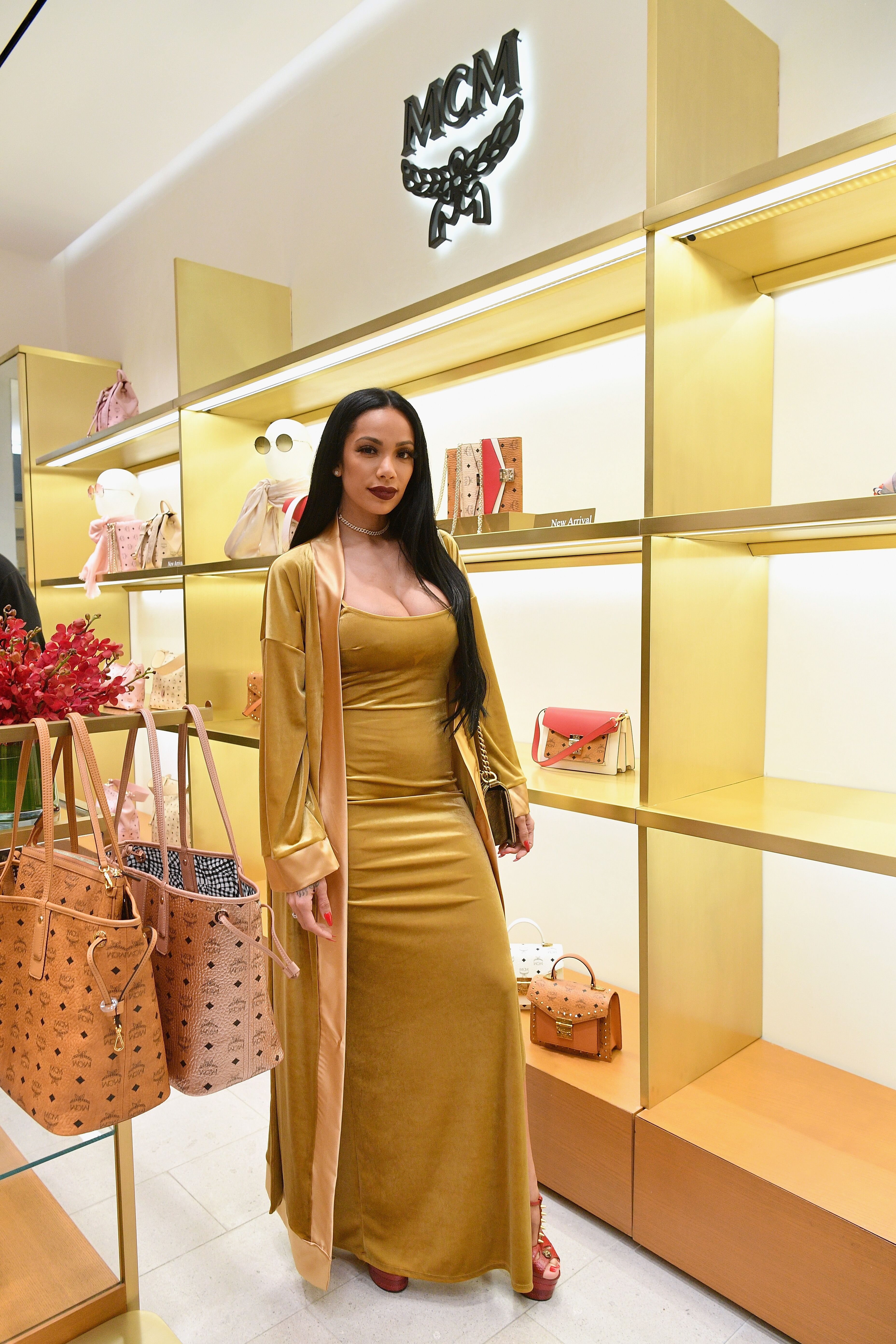 Erica Mena attending an MCM store event | Source: Getty Images/GlobalImagesUkraine