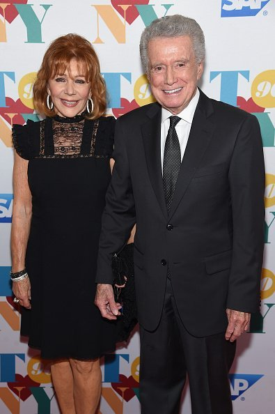 Joy Philbin (L) and Regis Philbin arrive for music legend Tony Bennett's 90th birthday celebration at The Rainbow Room on August 3, 2016, in New York City.  | Source: Getty Images.
