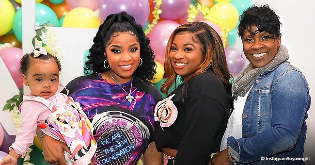 Toya Wright celebrates daughter's first birthday with pastel rainbow-themed party