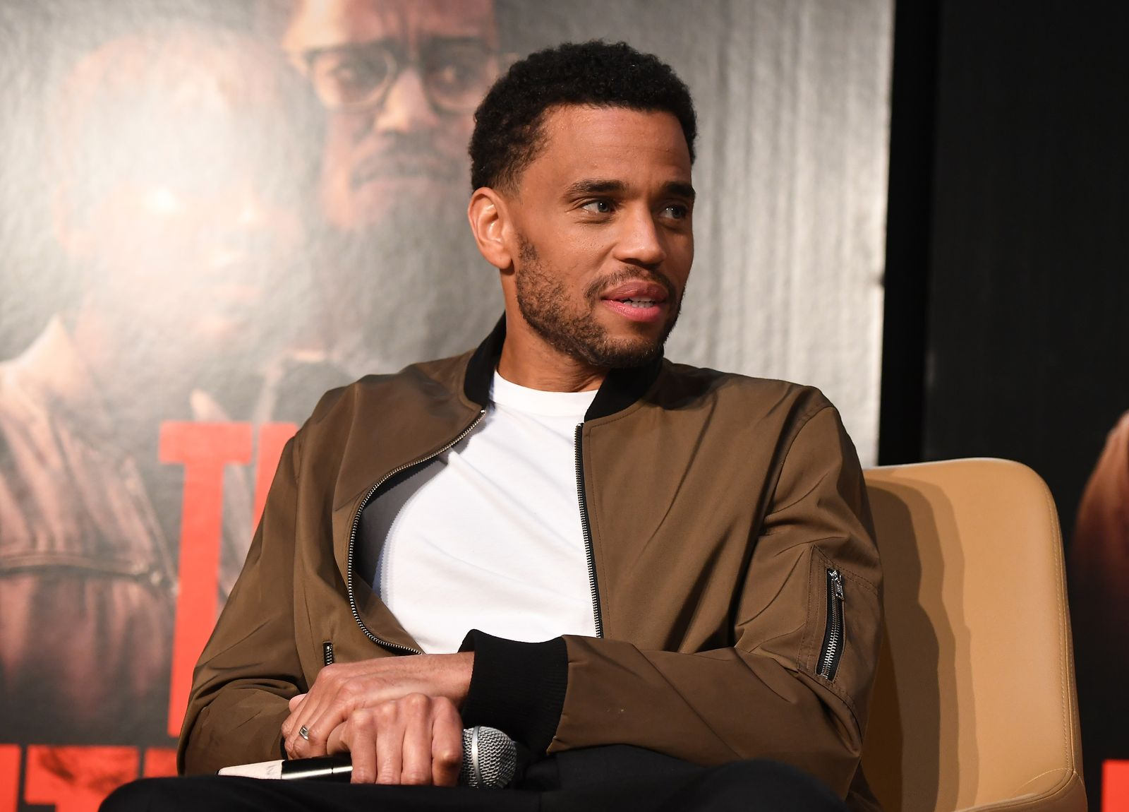 """Actor Michael Ealy onstage at """"The Intruder"""" Clark Atlanta University Spring Fest 2019 at Clark Atlanta University Student Center on April 23, 2019 