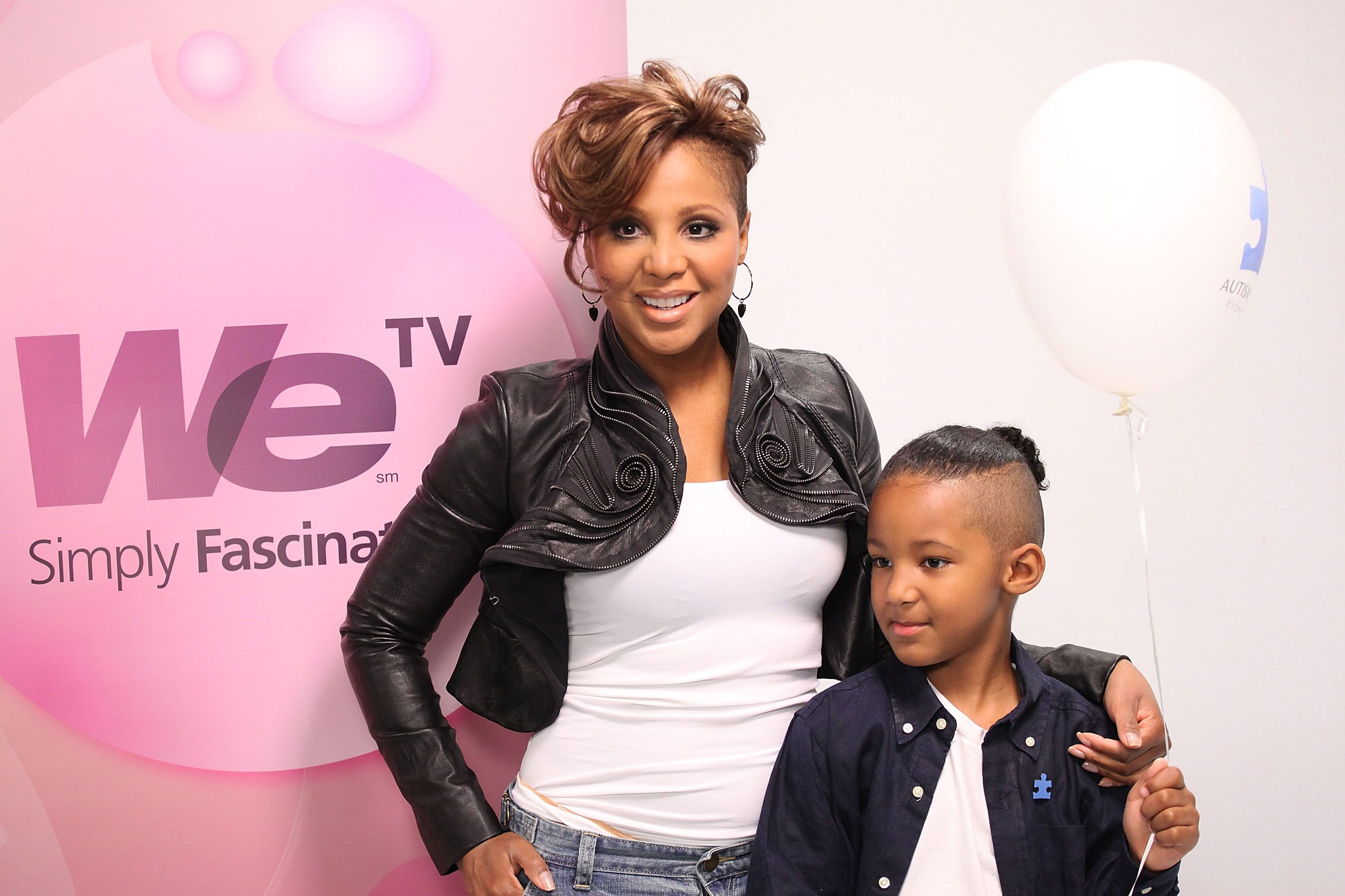 """Toni Braxton and son Diezel Lewis film the """"We Volunteers"""" Public Service Announcement on May 6, 2010 in New York   Photo: Getty Images"""
