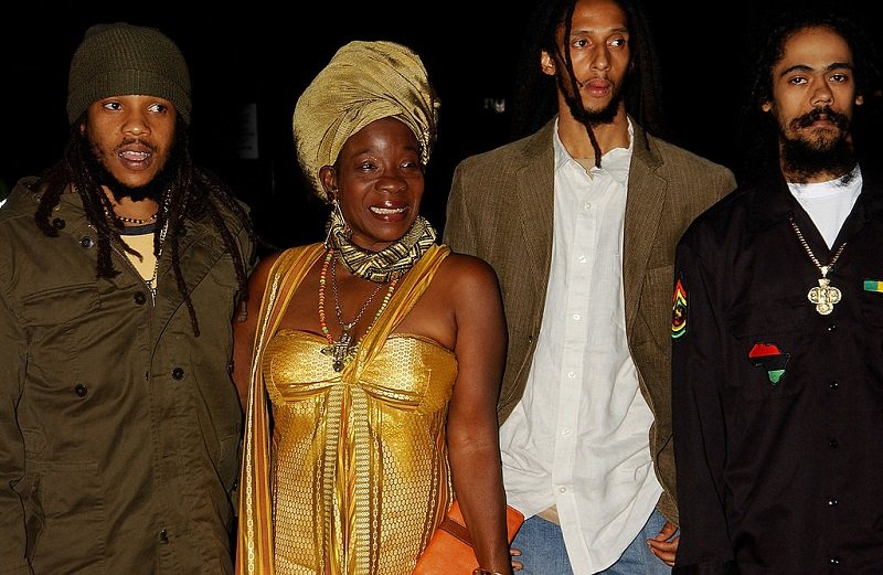 Stephen Marley, Rita Marley, Julian Marley, and Damian Marley on September 22, 2005 in London, England | Photo: Getty Images