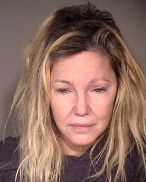 Heather Locklear's booking photo at the Ventura County Sheriffs Office | Photo: Getty Images
