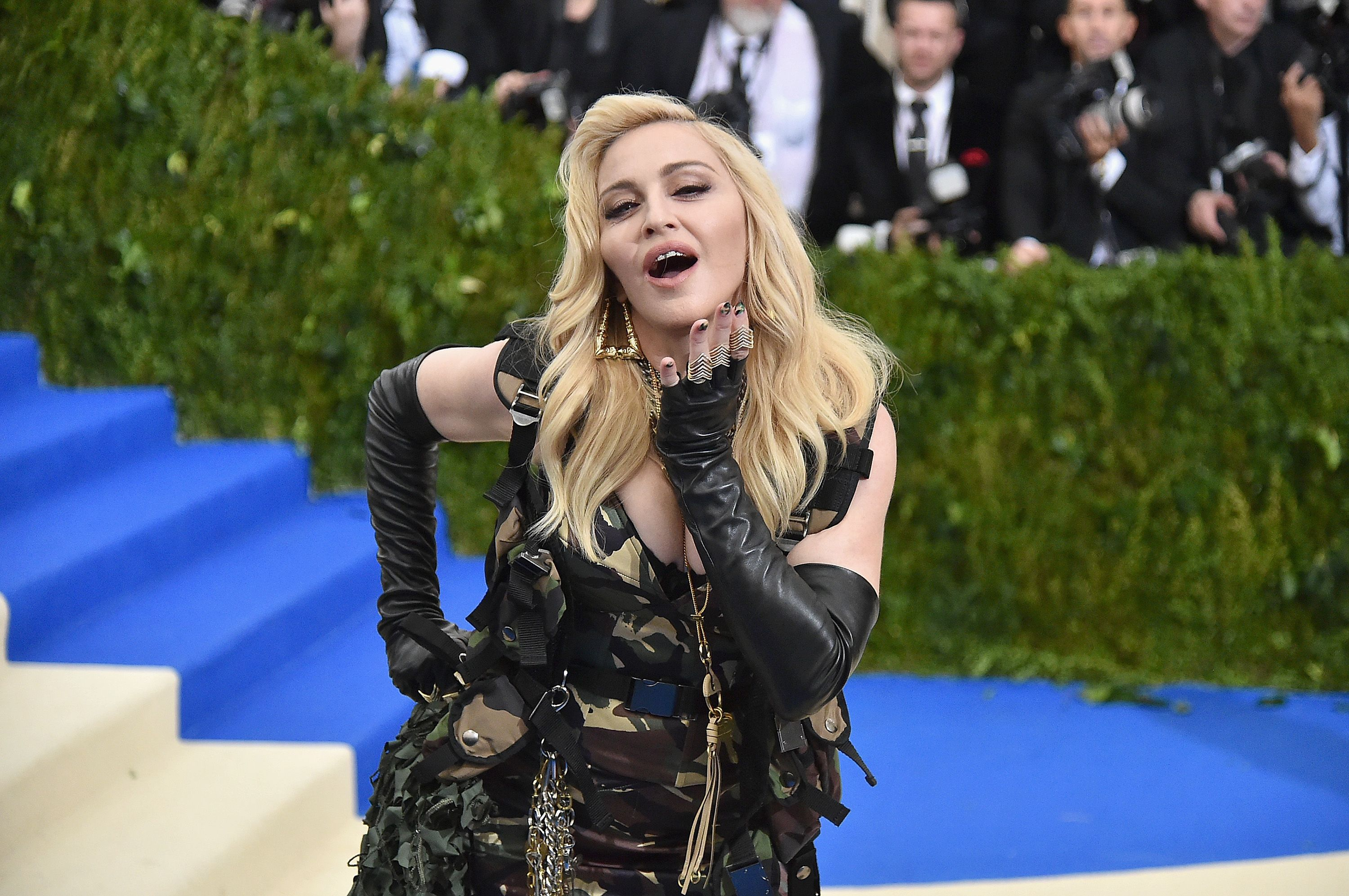 Madonna at the Costume Institute Gala at the Metropolitan Museum of Art in 2017 in New York City | Source: Getty Images