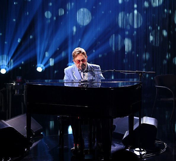 "Elton John performs live on stage at iHeartRadio ICONS with Elton John: Celebrating The Launch Of Elton John's Autobiography, ""Me"" at the iHeartRadio Theater  