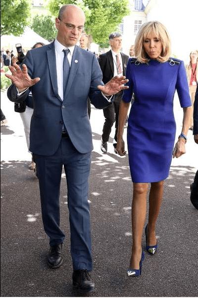 Brigitte Macron, Jean-Michel Blanquer, ministre de l'éducation nationale lors de la réunion des ministres. | Stephane Lemouton/Bestimage