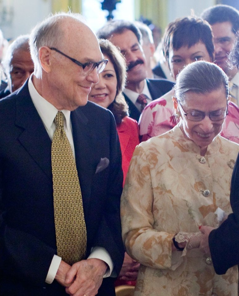 Martin and Ruth Ginsburg at a White House event, 2009   Photo: Wikimedia Commons Images