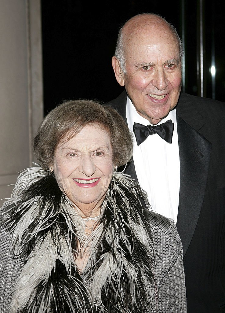 Carl Reiner (R) and wife Estelle Reiner arrive for the 50th annual Benefit Gala of the Young Musicians Foundation | Getty Images
