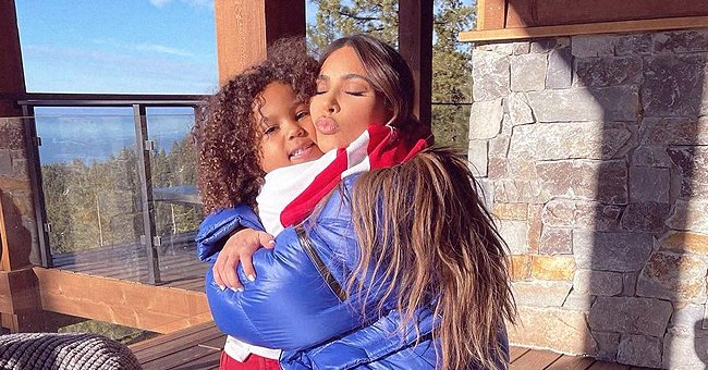 Kim Kardashian Hugs and Kisses Her Curly-Haired Son Saint in Sweet Photos on His 5th Birthday