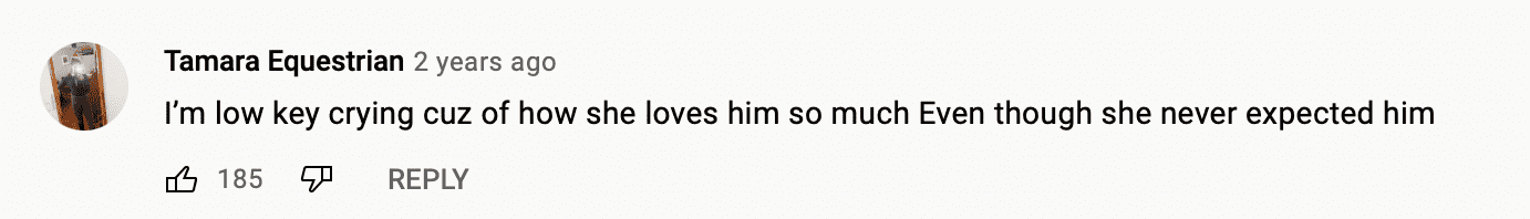 Comment under a video of a woman who gave birth after having her tubes tied. | Photo: youtube.com/tlc uk