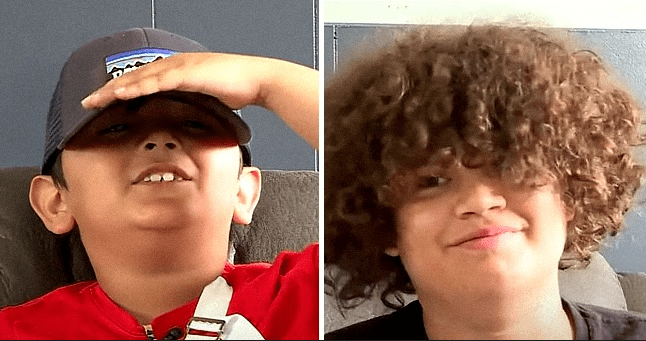 8-Year-Old Boy Thanks His Older Brother for Saving Him after a Tree Fell on Him