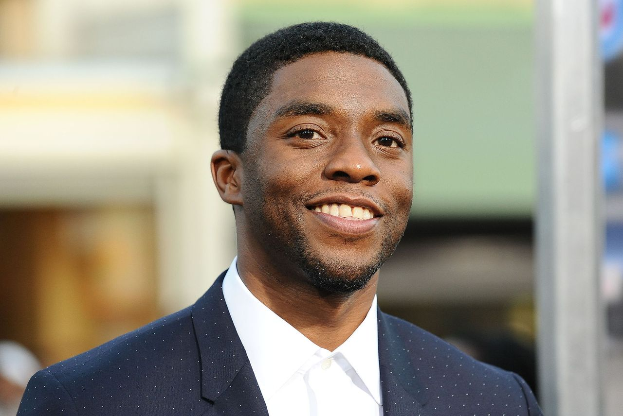 """Late actor Chadwick Boseman at the premiere of """"Draft Day"""" at Regency Bruin Theatre on April 7, 2014 in Los Angeles, California   Photo: Getty Images"""