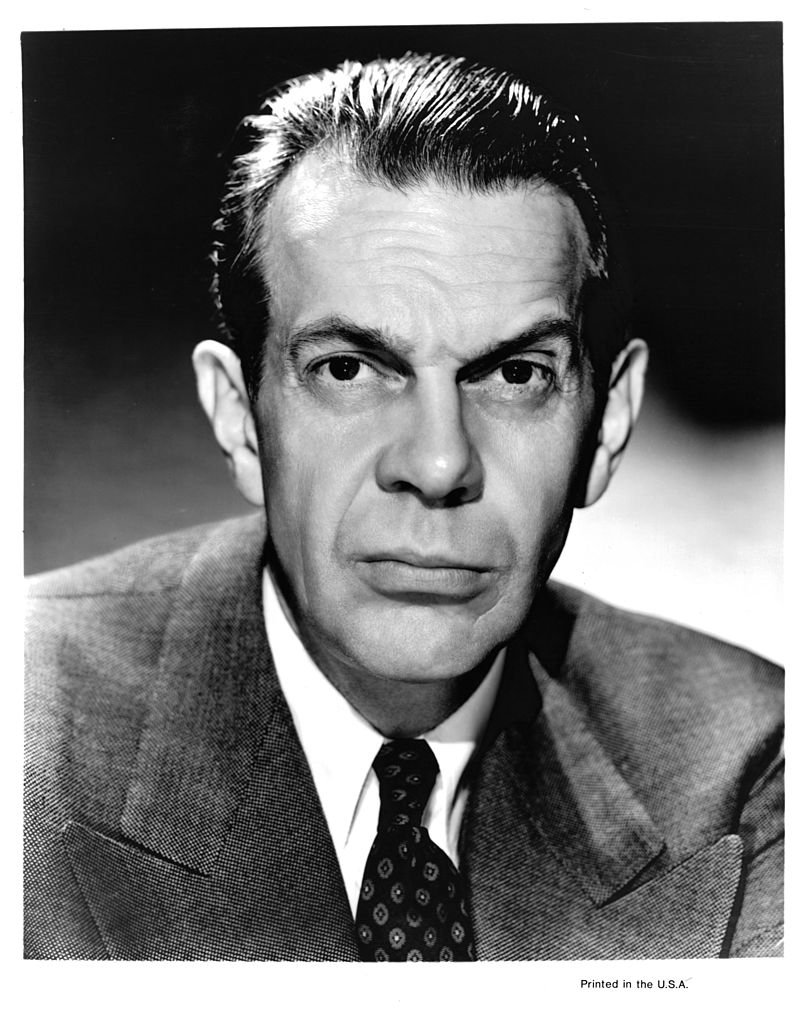 """Raymond Massey in publicity portrait for the film """"The Woman In The Window,"""" circa 1944. 