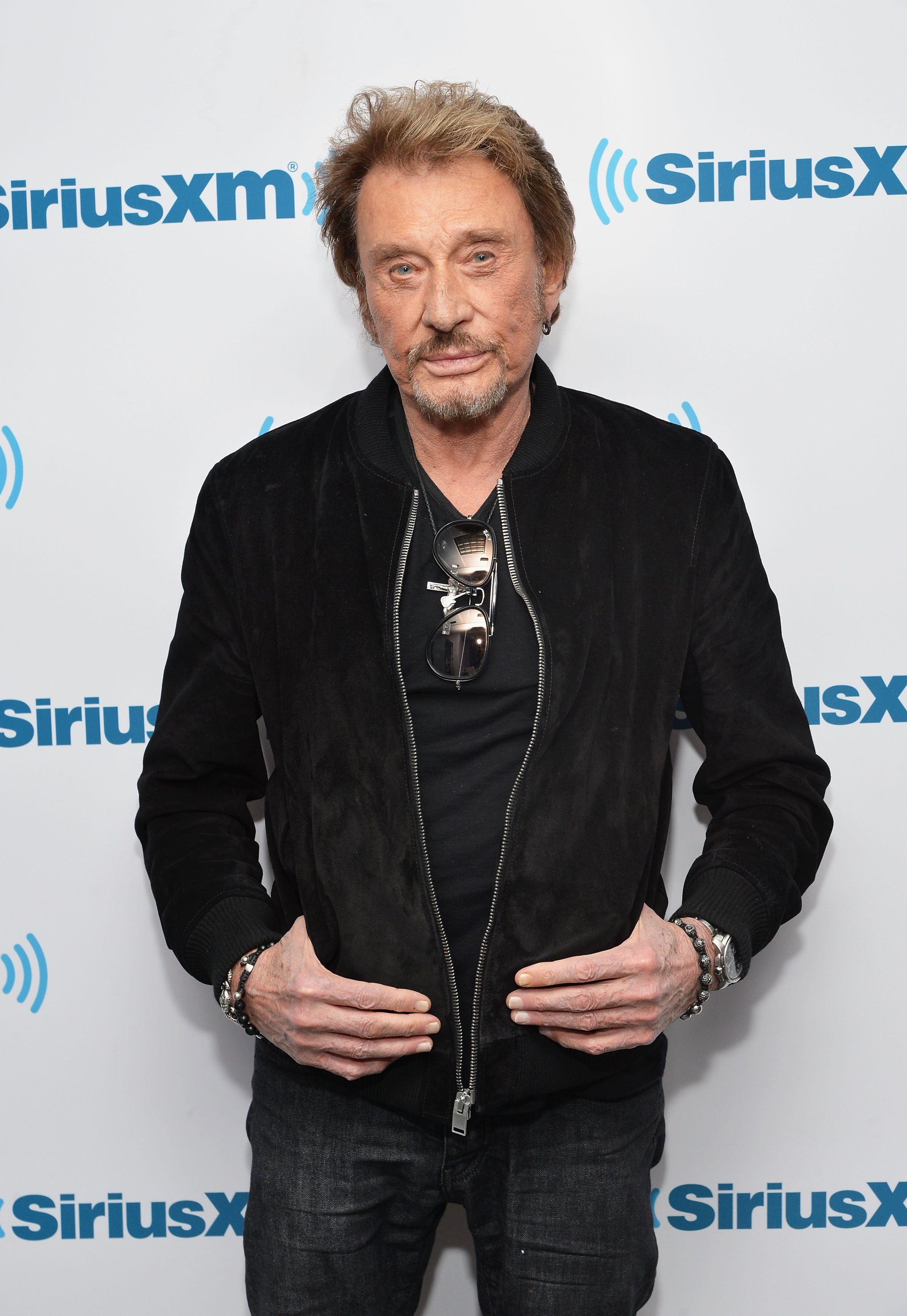 Le chanteur/acteur français Johnny Hallyday visite les studios SiriusXM le 5 mai 2014 à New York City. | Photo : Getty Images