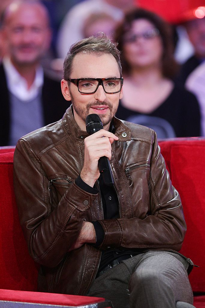 Christophe Willem en pleine émission / Source : Getty Images