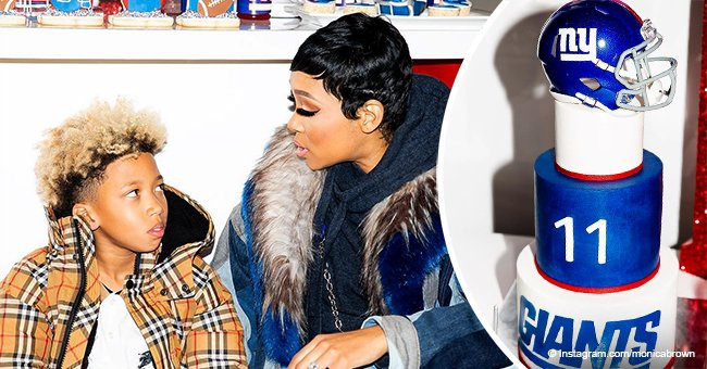 Monica Brown throws lavish Giants-themed birthday bash as youngest son turns 11