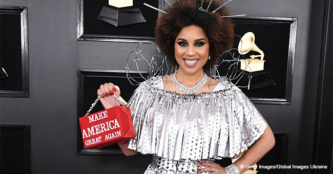 Pro-Trump singer flaunts bizarre 'Build the wall' dress with barbed wire causing debate online