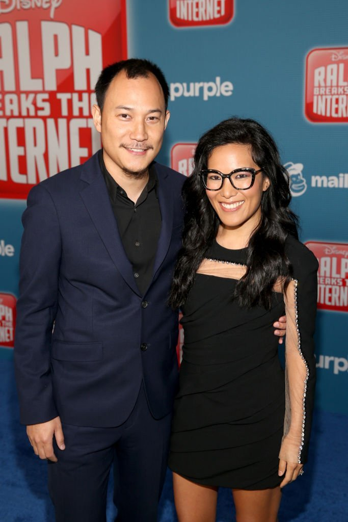 "Justin Hakuta (L) and Actor Ali Wong attend the World Premiere of Disney's ""RALPH BREAKS THE INTERNET""  