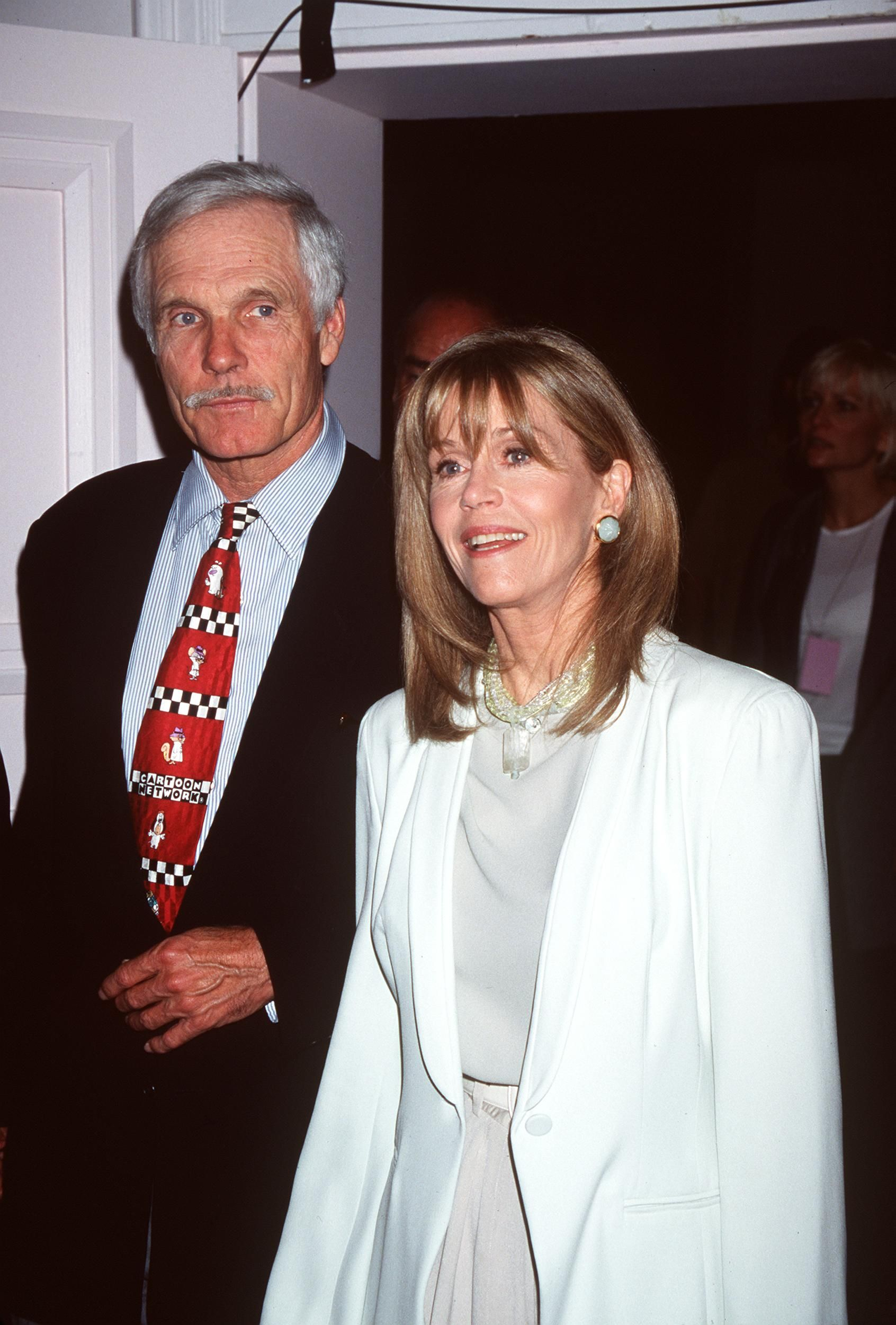 Ted Turner and Jane Fonda at the 23rd annual Crystal Film Awards. | Source: Getty Images