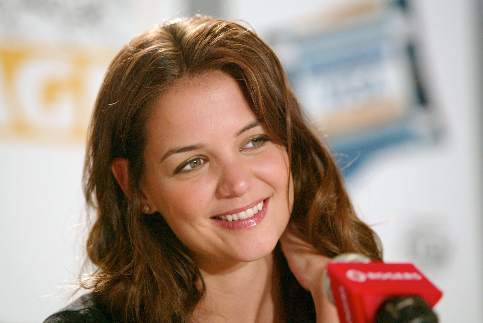 """Actress Katie Holmes participates in """"The Singing Detective"""" press conference during the 2003 Toronto International Film Festival at the Delta Chelsea Hotel September 8, 2003 in Toronto, Canada.  Photo: Getty Images"""