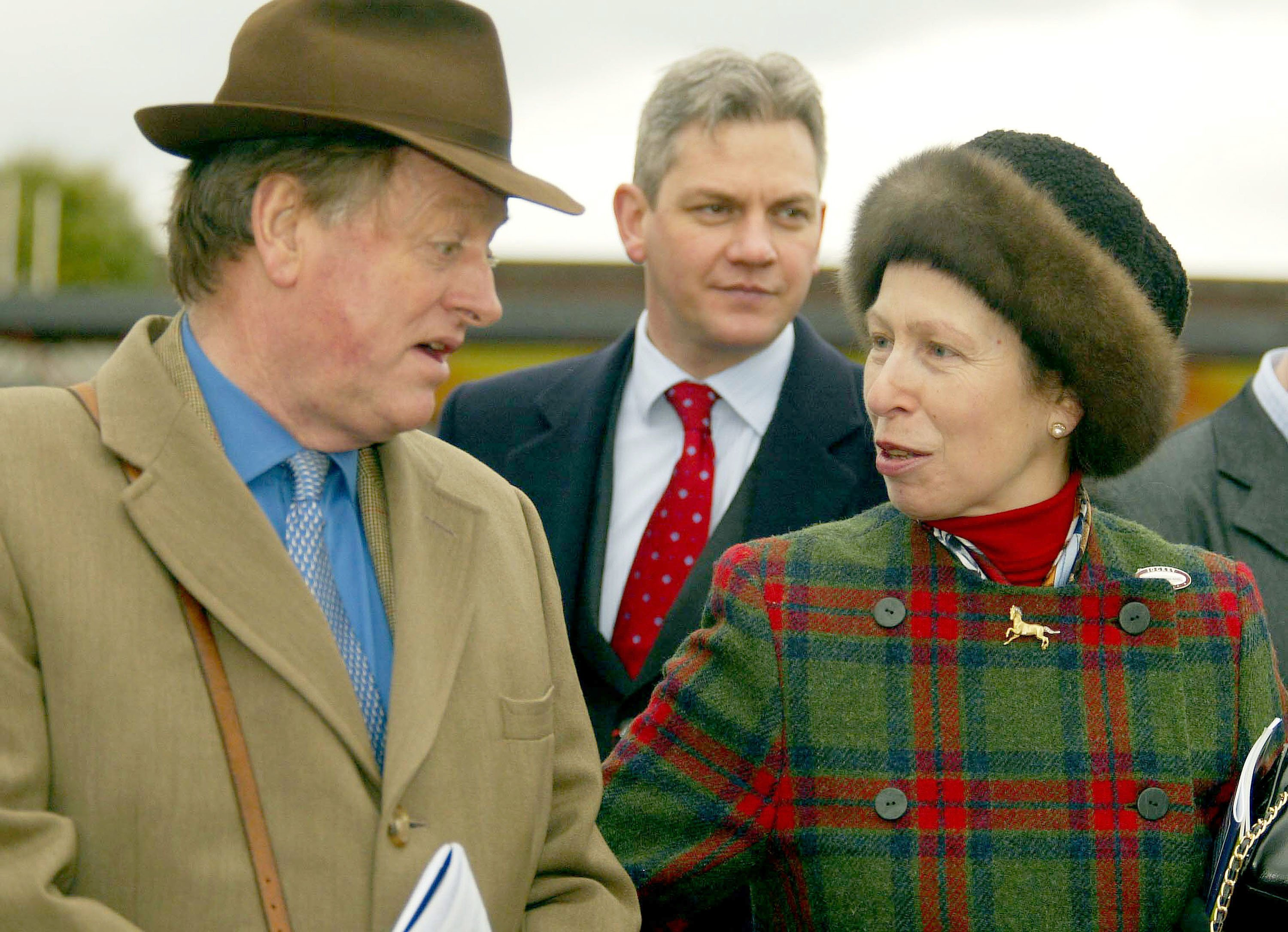 Princess Anne & Andrew Parker Bowles at the Cheltenham Gold Cup on March 18, 2004, in Cheltenham, England | Photo: Getty Images