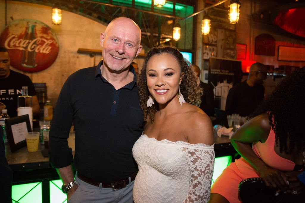 """Michael and Ashley Darby at the """"Real Housewives of Potomac"""" premiere party on April 28, 2019. 