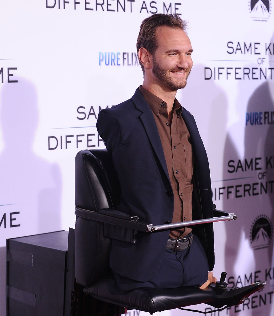 """Nick Vujicic attends the premiere of """"Same Kind of Different as Me"""" at Westwood Village Theatre on October 12, 2017 in Westwood, California. 