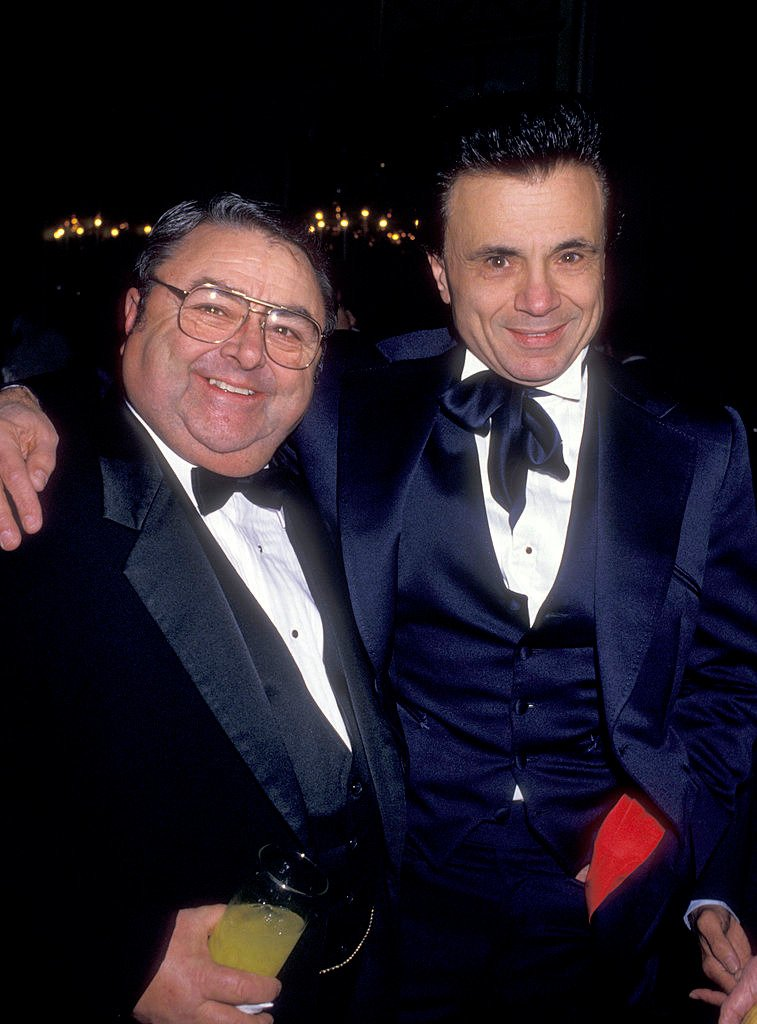 """George """"Spanky"""" McFarland and Robert Blake at the 4th Annual American Cinema Awards, Beverly Wilshire Hotel, Beverly Hills. on January 9, 1987. 