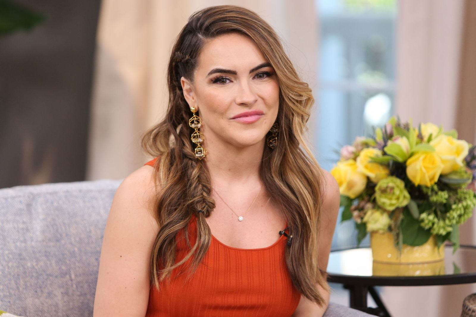 """Chrishell Stause at Hallmark's """"Home & Family"""" at Universal Studios Hollywood on May 1, 2019   Photo: Getty Images"""