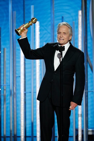 "Michael Douglas from the ""The Kominsky Method"" accepts the Best Performance by an Actor in a Television Series – Musical or Comedy award onstage during the 76th Annual Golden Globe Awards at The Beverly Hilton Hotel on January 06, 2019 in Beverly Hills, California 