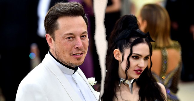 Elon Musk and Grimes pictured at the Heavenly Bodies: Fashion & The Catholic Imagination Costume Institute Gala at The Metropolitan Museum. 2018, New York City.   Photo: Getty Images