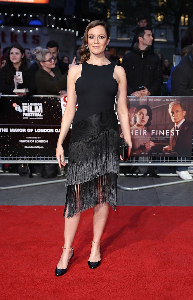 "Rachael Stirling assiste à la projection de gala de la pièce maîtresse du maire de ""leur meilleur"" lors de la 60e BFI London Film Festival à Odeon Leicester Square le 13 octobre 2016. 