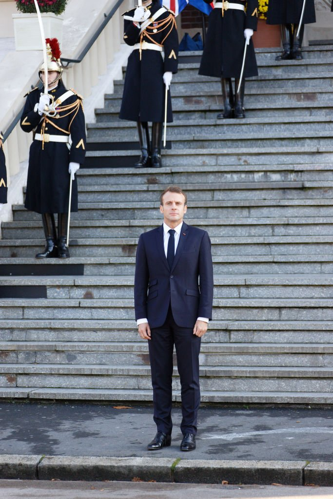Emmanuel Macron en visite à Albert (Somme), le 9 novembre 2018. | Photo : Getty Images