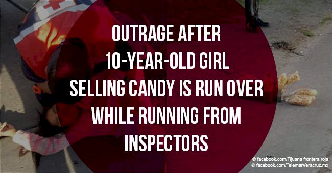 Outrage after 10-year-old girl selling candy is run over while running from inspectors