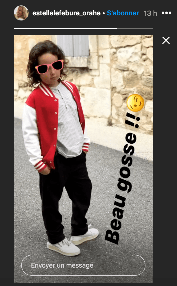 La photo du fils d'Estelle Lefébure. | Photo : Instagram story / Estelle Lefebure
