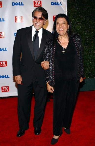 """Shelley Morrison and her husband Walter Dominguez arrive at TV Guide's Second Annual Emmy After Party on September 19, 2004, at """"TV Guide Central"""" in West Hollywood, California. 