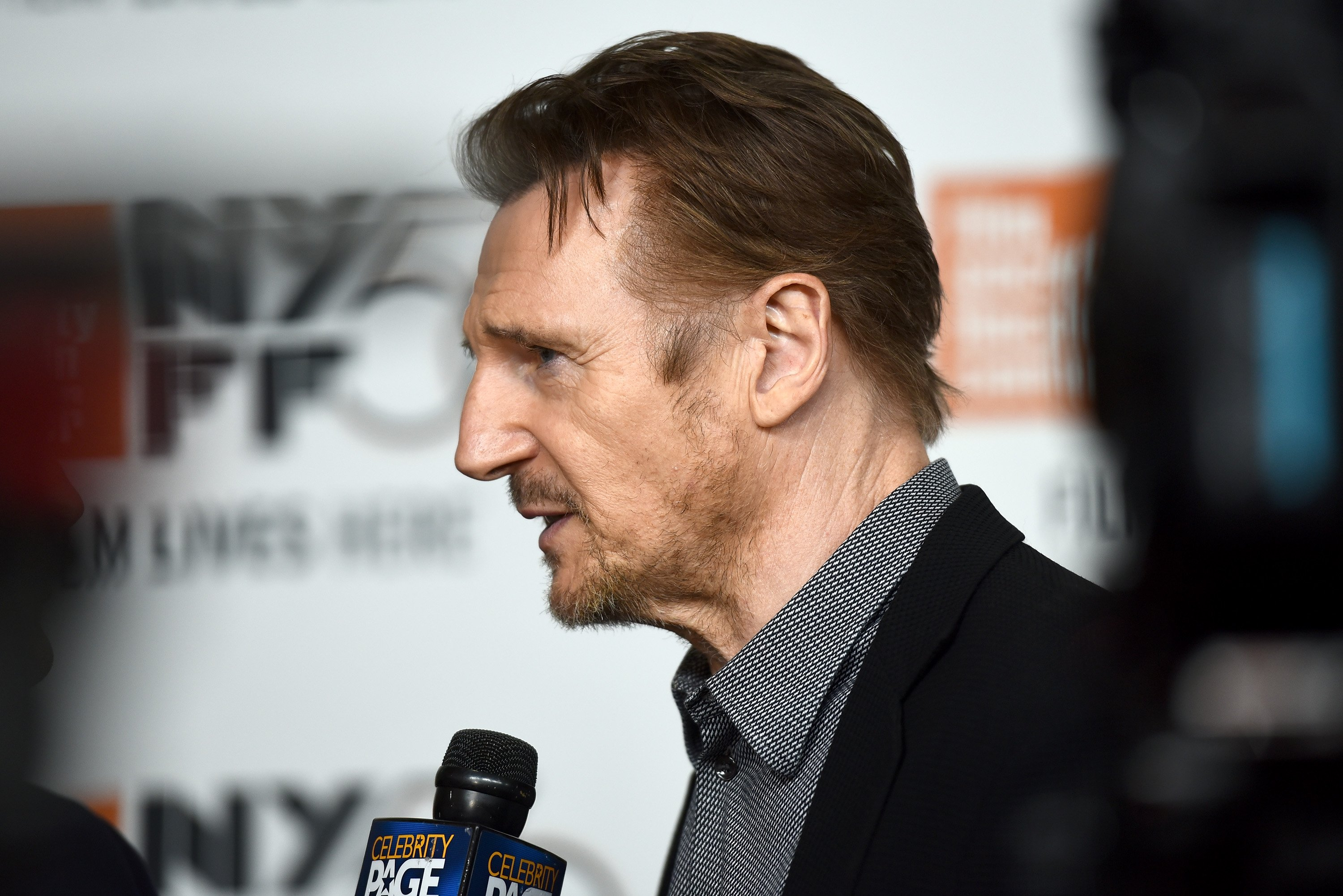 "Liam Neeson at the premiere of ""The Ballad of Buster Scruggs"" 