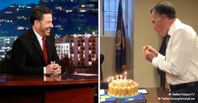 Jimmy Kimmel Compared Mitt Romney to an Alien amid His Twinkies Birthday Cake