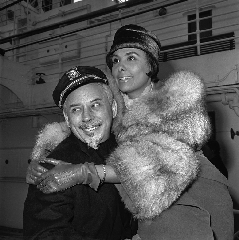 Lena Horne with her husband, Lennie Hayton sailing for Europe on the Liberte on  May 18, 1961   Photo: Getty Images